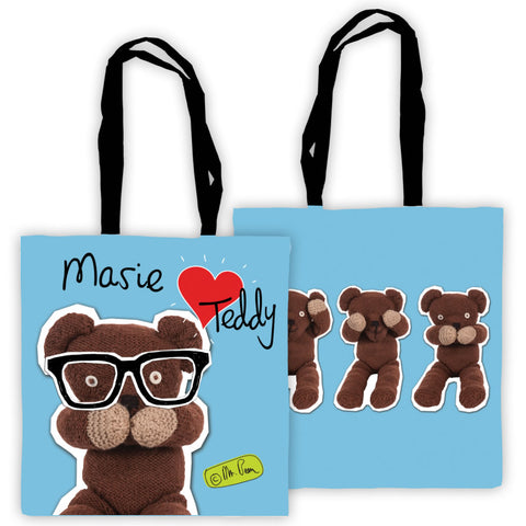 Heart Teddy Tote Bag