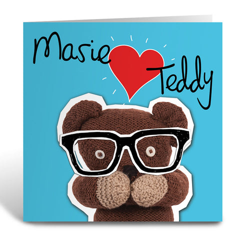 Heart Teddy Greeting Card