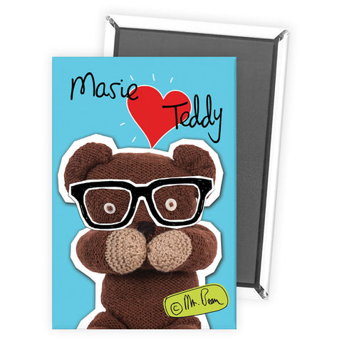 Heart Teddy Magnet