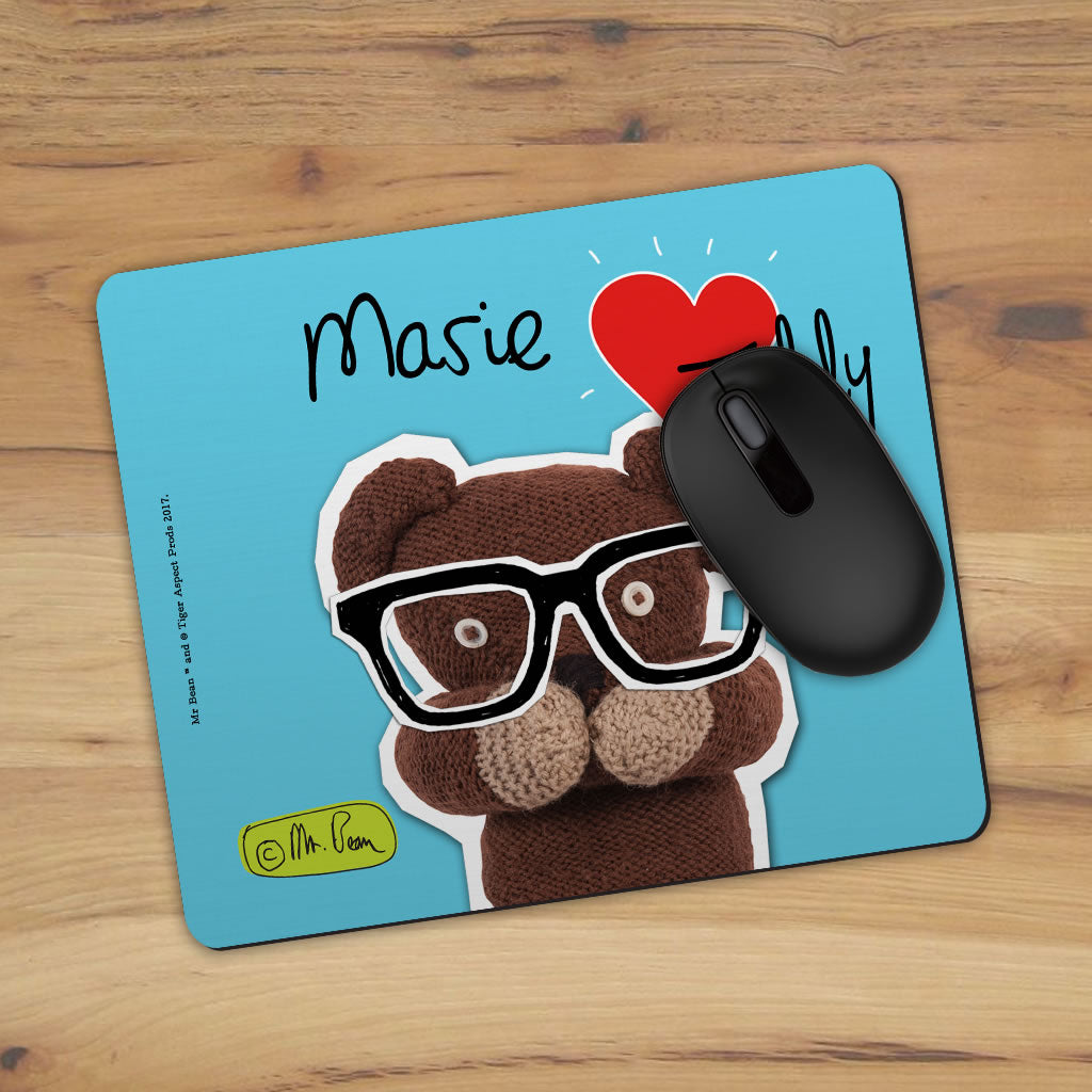 Heart Teddy Mouse mat (Lifestyle)