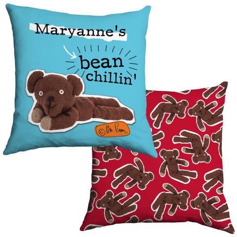 Personalised Bean Chillin' Cushion