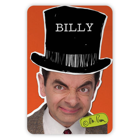 Mr Bean Tophat Metal Sign