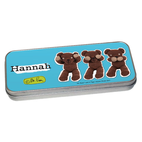 Teddy Pencil tin
