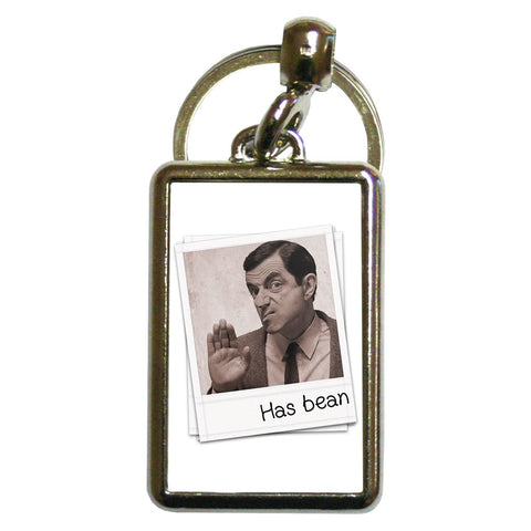 Has Bean Metal Keyring