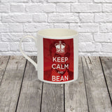 Keep Calm and Bean Bone China Mug (Lifestyle)