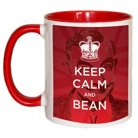 Keep Calm and Bean Coloured Insert Mug