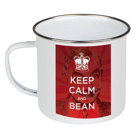 Keep Calm and Bean Enamel Mug