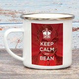 Keep Calm and Bean Enamel Mug (Lifestyle)
