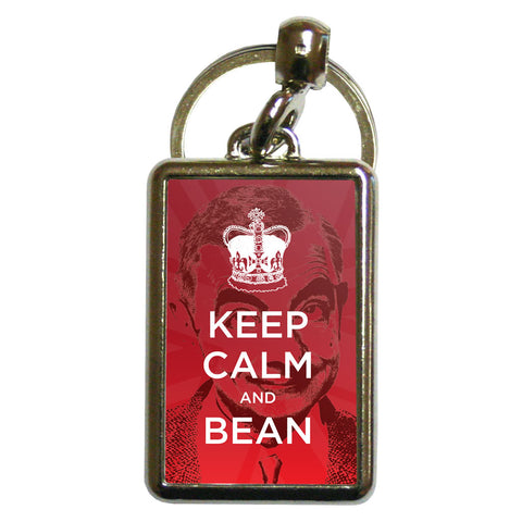 Keep Calm and Bean Metal Keyring