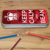 Keep Calm and Bean Pencil tin (Lifestyle)