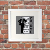 Bean White Framed Print (Lifestyle)