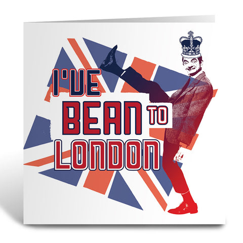 I've Bean to London Greeting Card