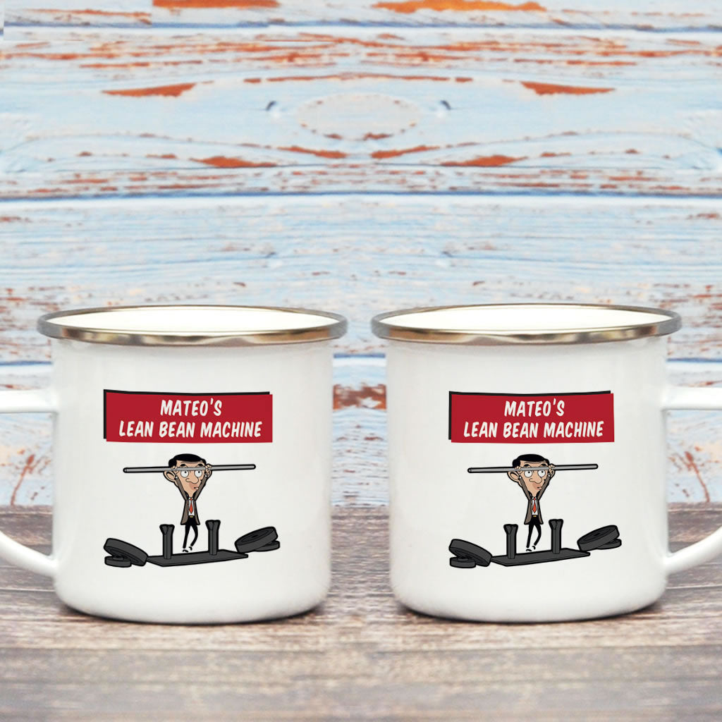 A Lean Bean Machine Enamel Mug (Lifestyle)