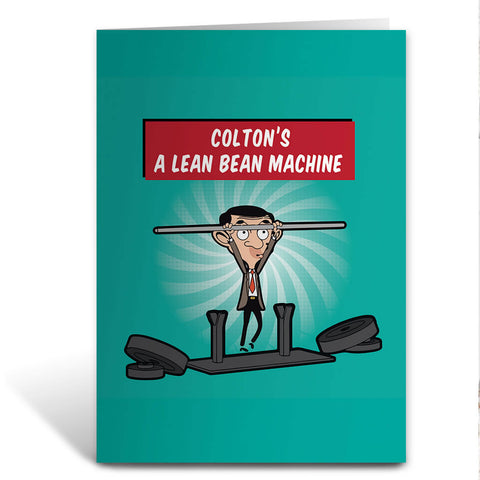 A Lean Bean Machine Greeting Card