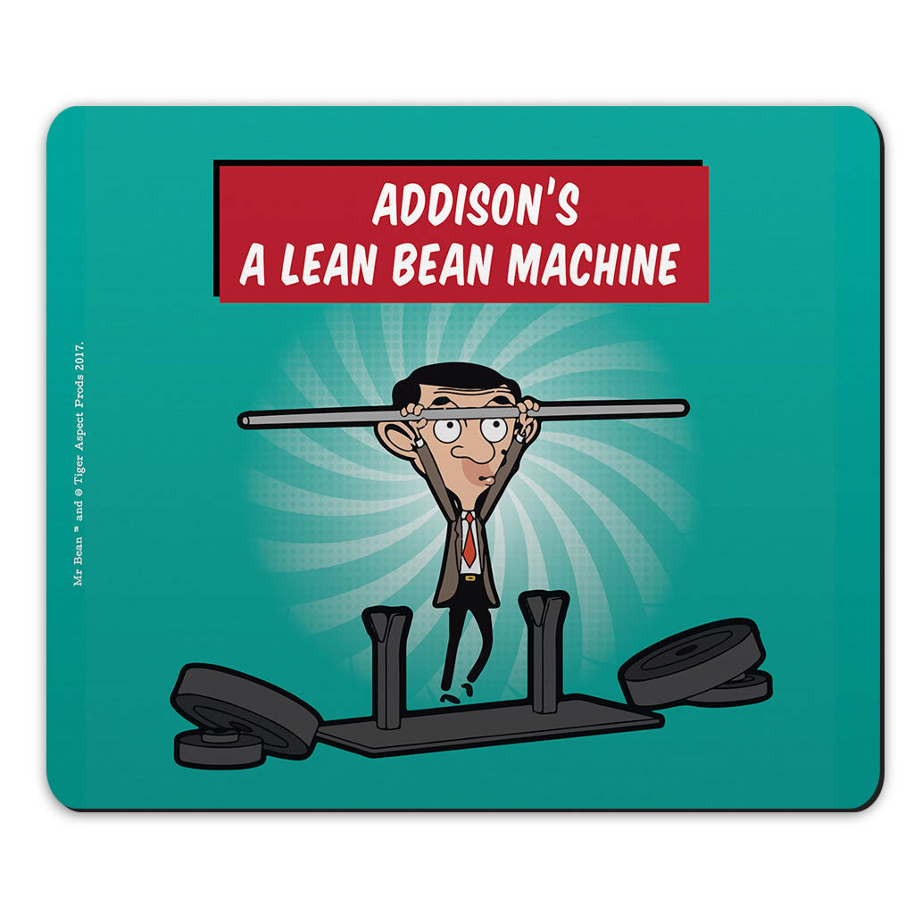 A Lean Bean Machine Mouse mat