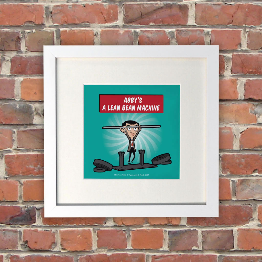 A Lean Bean Machine White Framed Print (Lifestyle)
