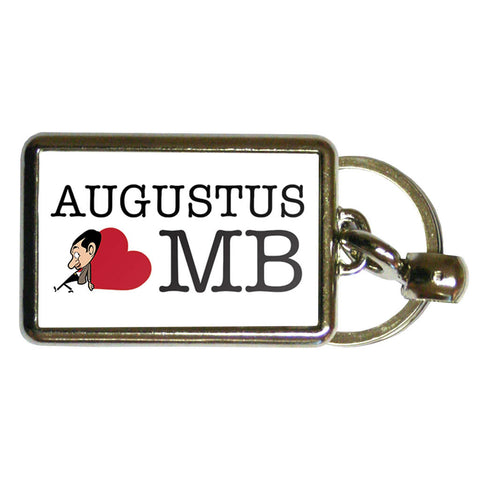 Heart Mr Bean 1 Metal Keyring