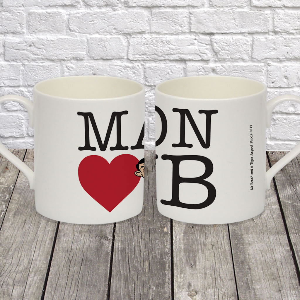 Heart Mr Bean 2 Bone China Mug (Lifestyle)