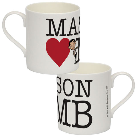 Heart Mr Bean 2 Bone China Mug