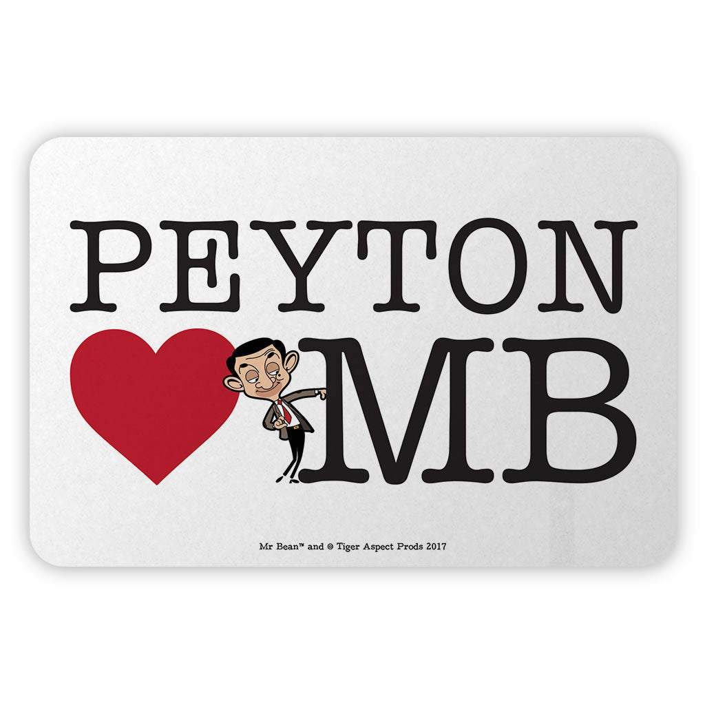 Heart Mr Bean 2 Metal Sign