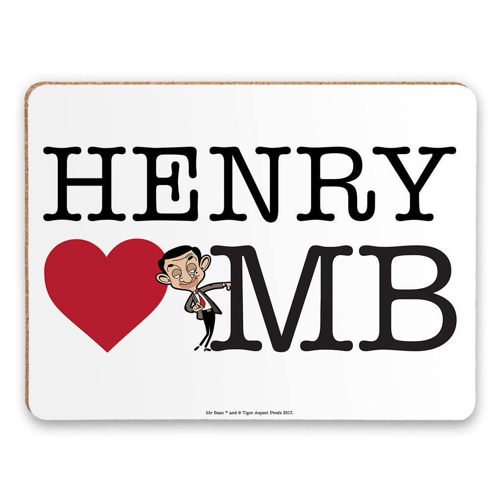 Heart Mr Bean 2 Placemat