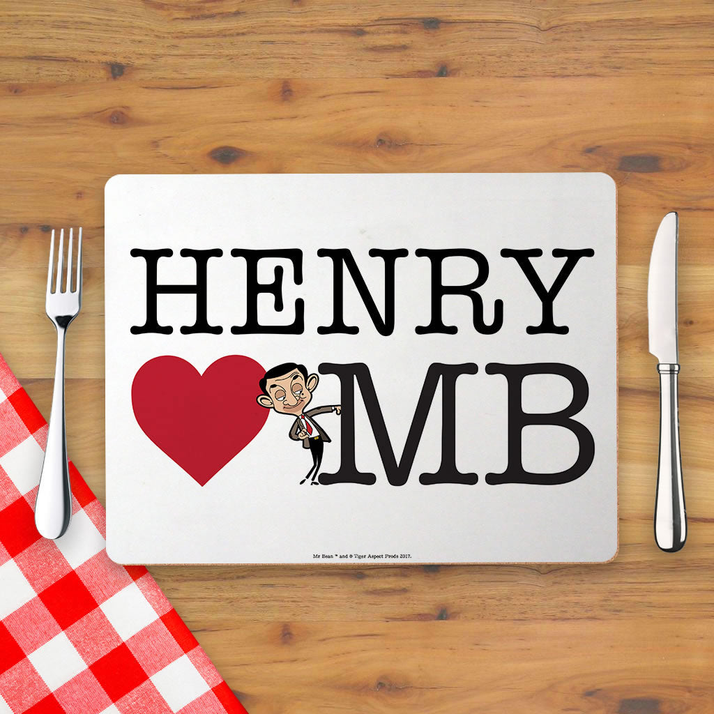 Heart Mr Bean 2 Placemat (Lifestyle)