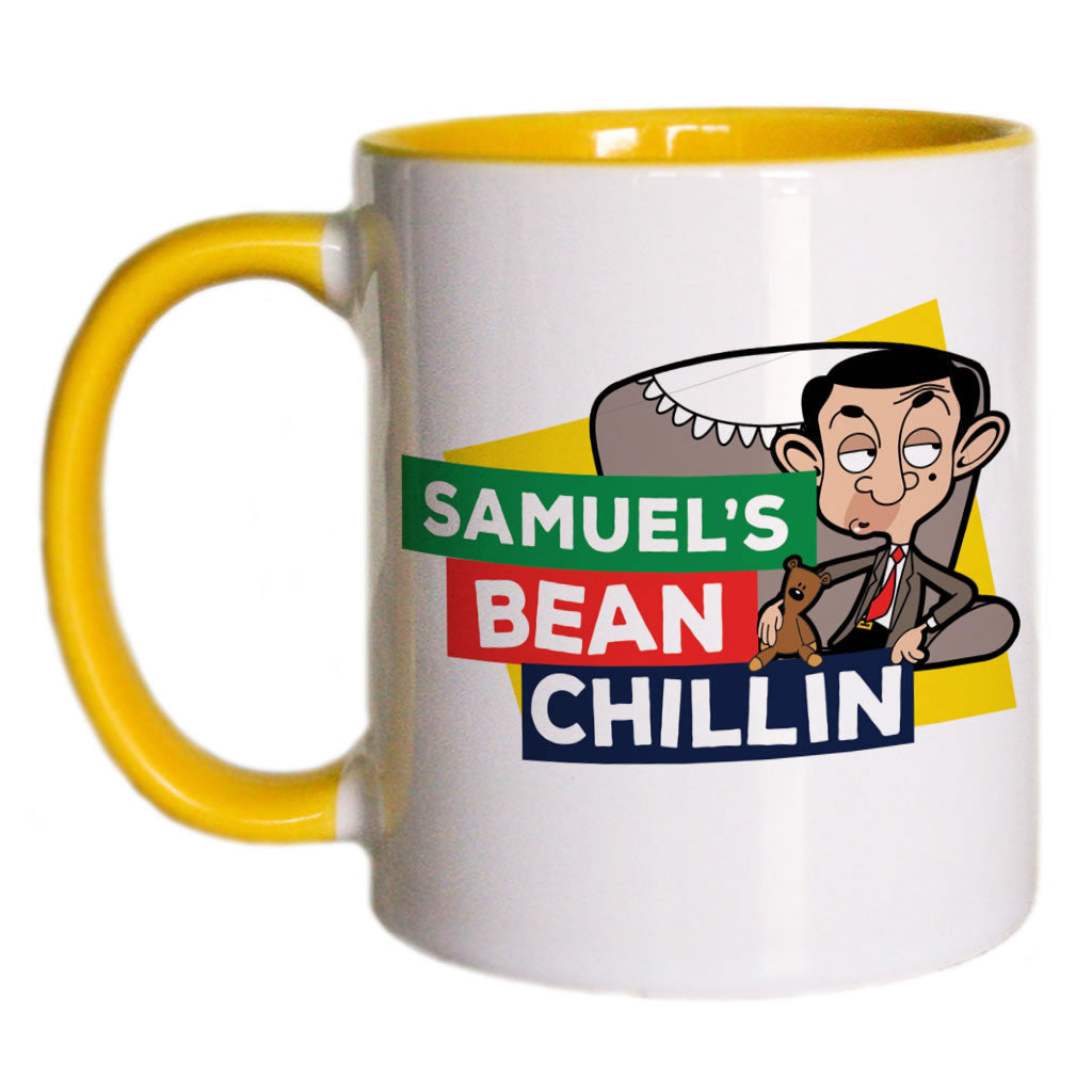 Bean Chillin Coloured Insert Mug