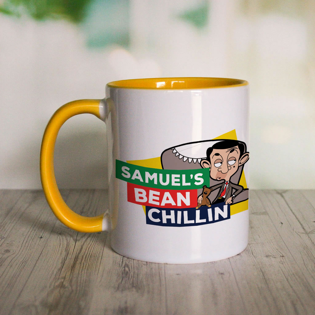 Bean Chillin Coloured insert mug (Lifestyle)