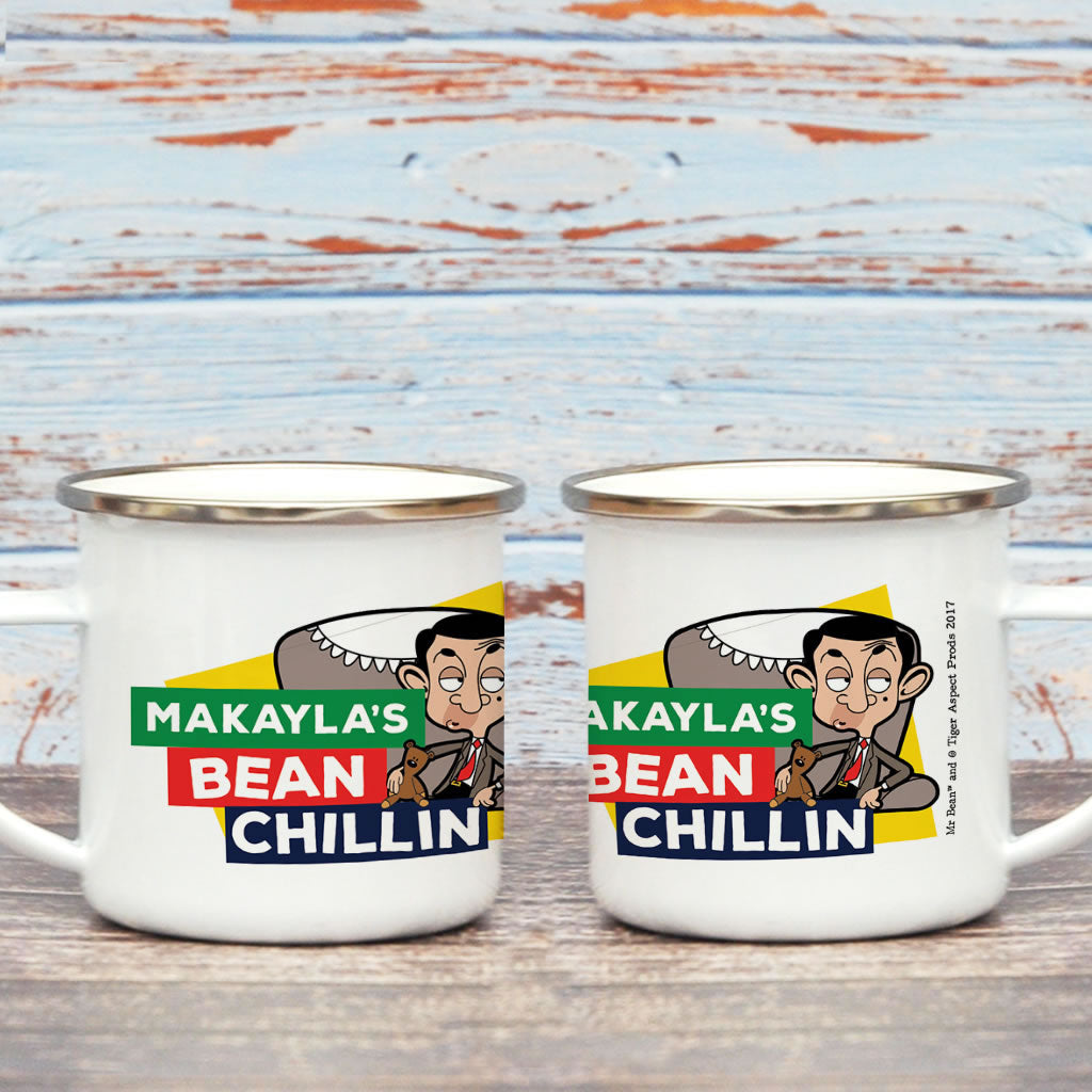 Bean Chillin Enamel Mug (Lifestyle)