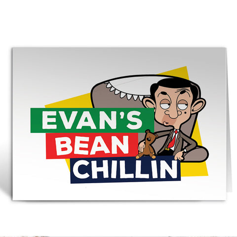 Bean Chillin Greeting Card