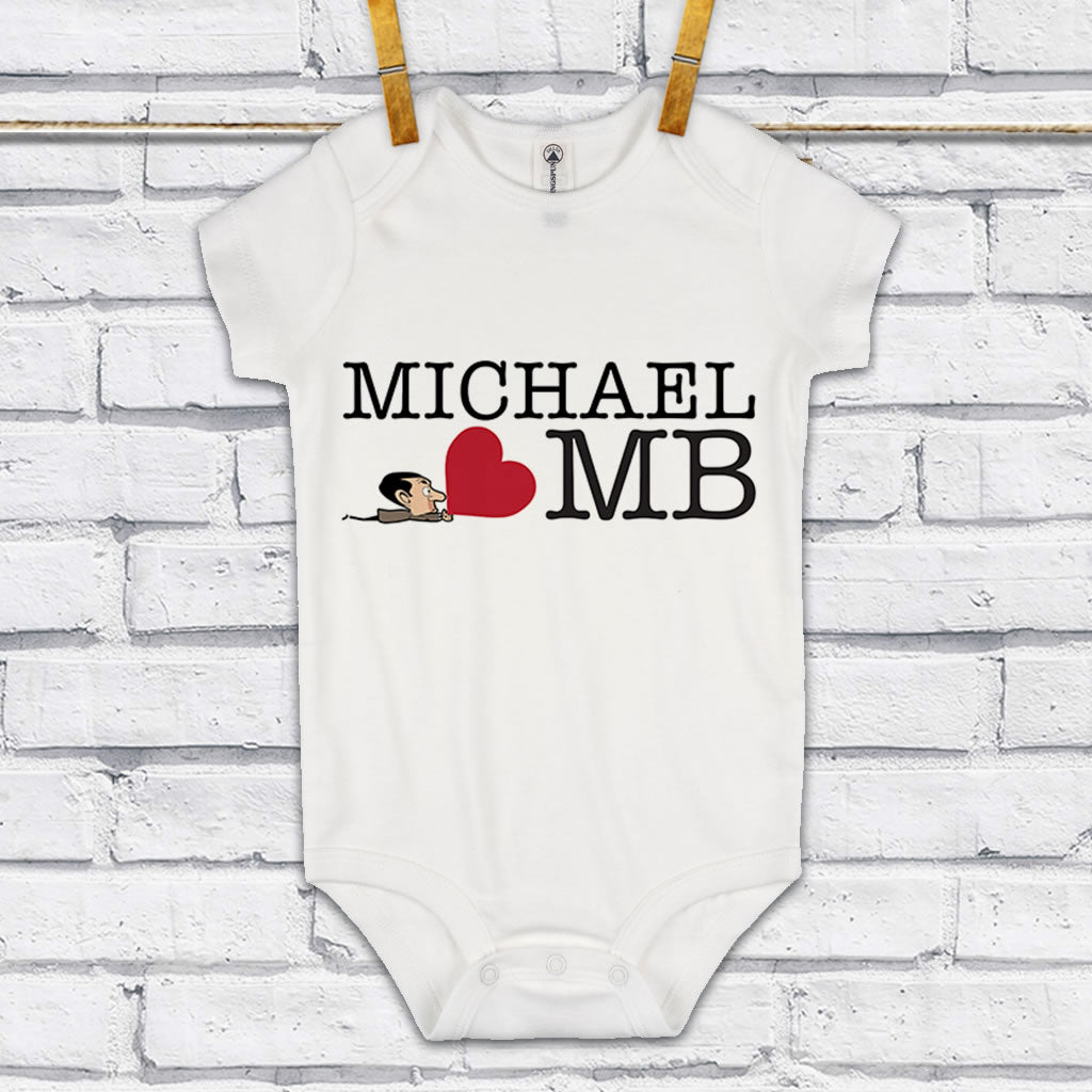 Heart Mr Bean 3 Baby Grow (Lifestyle)