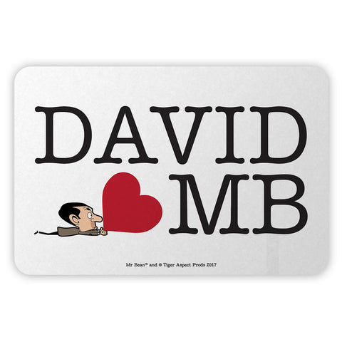 Heart Mr Bean 3 Metal Sign
