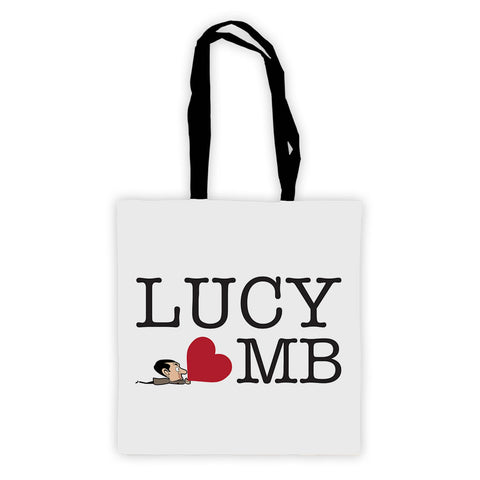 Heart Mr Bean 3 Tote Bag