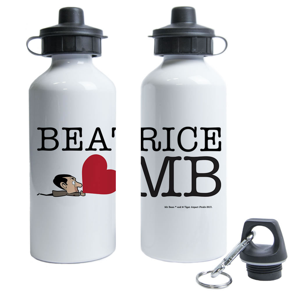 Heart Mr Bean 3 Water Bottle