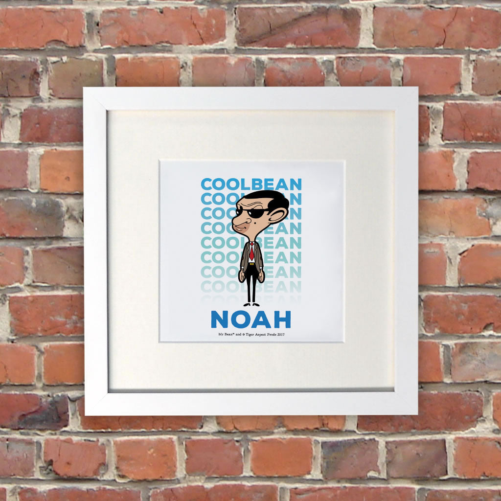 Cool Bean White Framed Print (Lifestyle)