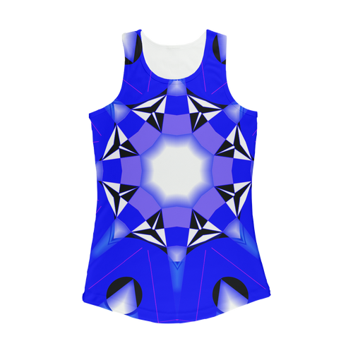 blue 1 Women Performance Tank Top