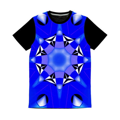 blue 1 Classic Sublimation Panel T-Shirt