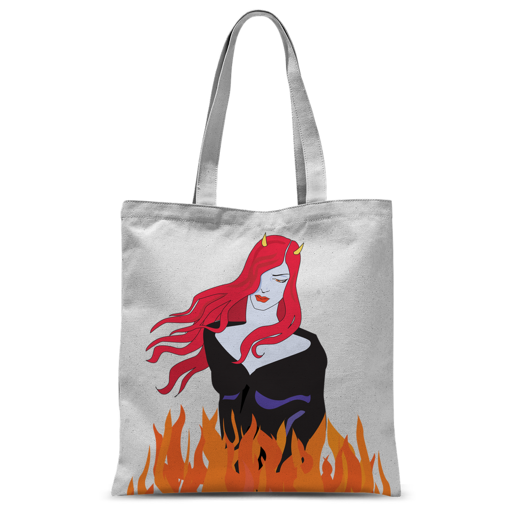 on fire Classic Sublimation Tote Bag