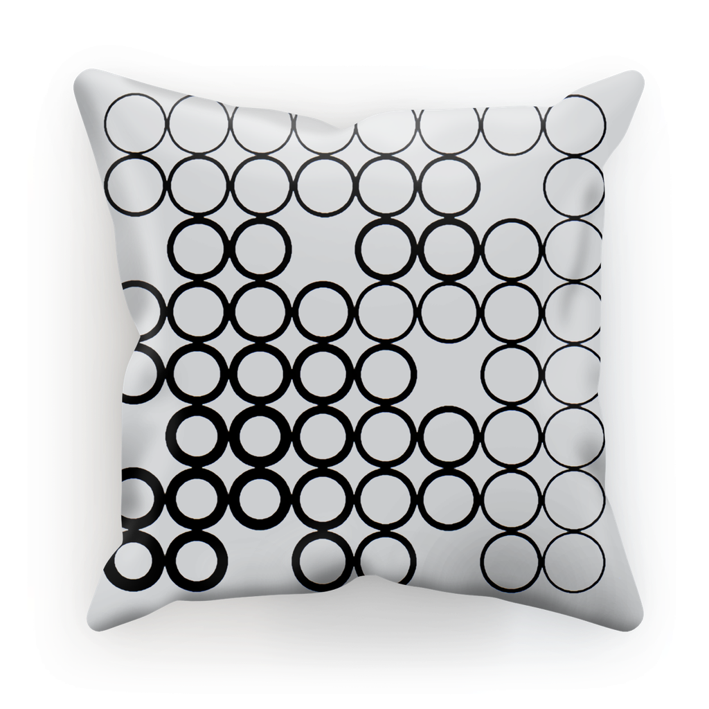 Circles Black Cushion