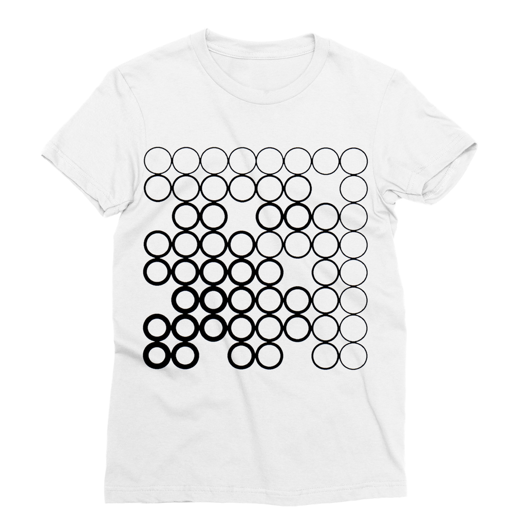 Circles Black Sublimation T-Shirt