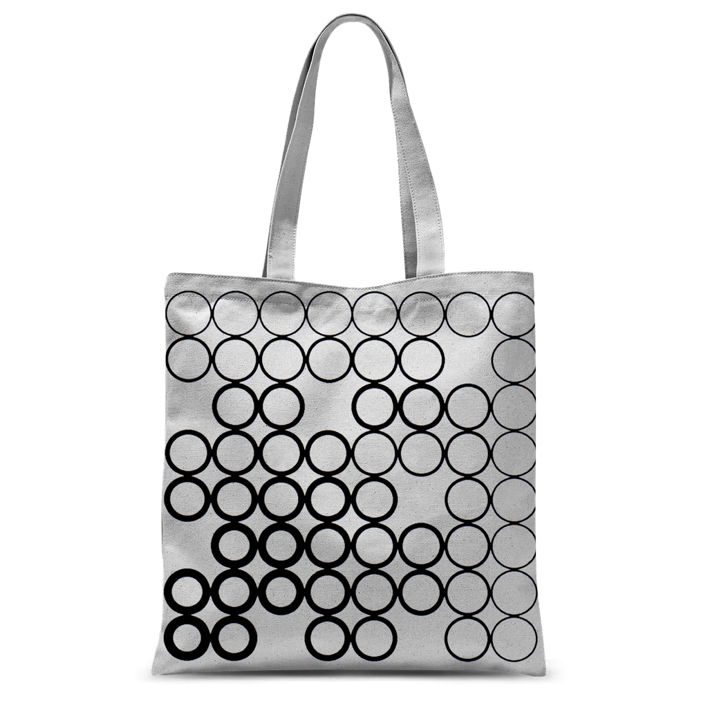 Circles Black Tote Bag