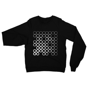 Circles White, Neck Sweatshirt