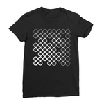 Circles White Women's Fine Jersey T-Shirt