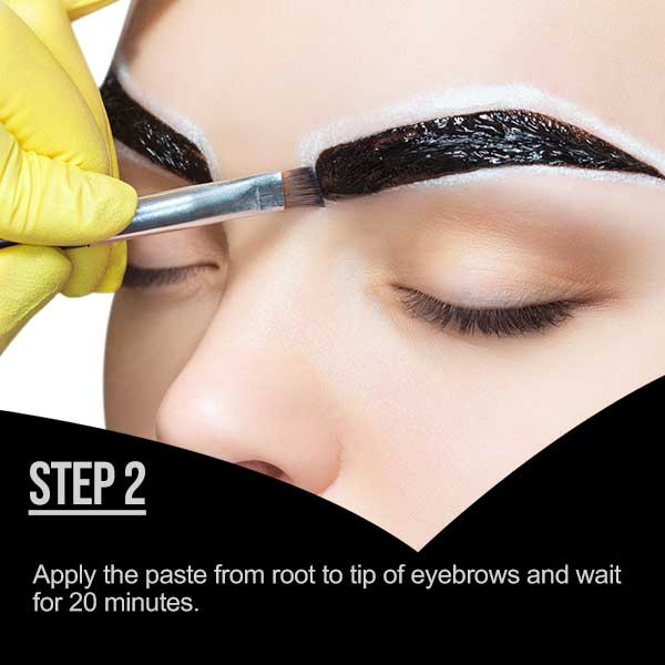 HOW TO USE MINA IBROW HENNA - STEP 2