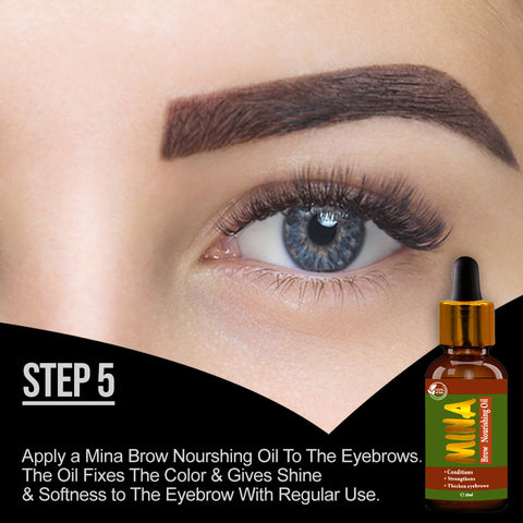How to Use Eyebrow henna Step 5