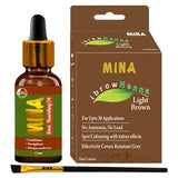 Light Brown Henna -  Eyebrow Tinting Brush -  Eyebrow Nourishing Oil Combo