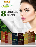 Professional Henna Brow Kit (8 Colors of IBrow Henna, Brow Conditioning Cleanser & Brow Nourishing Oil)