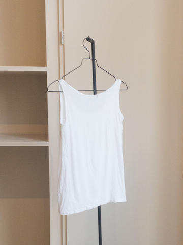 White crepe top | Vintage