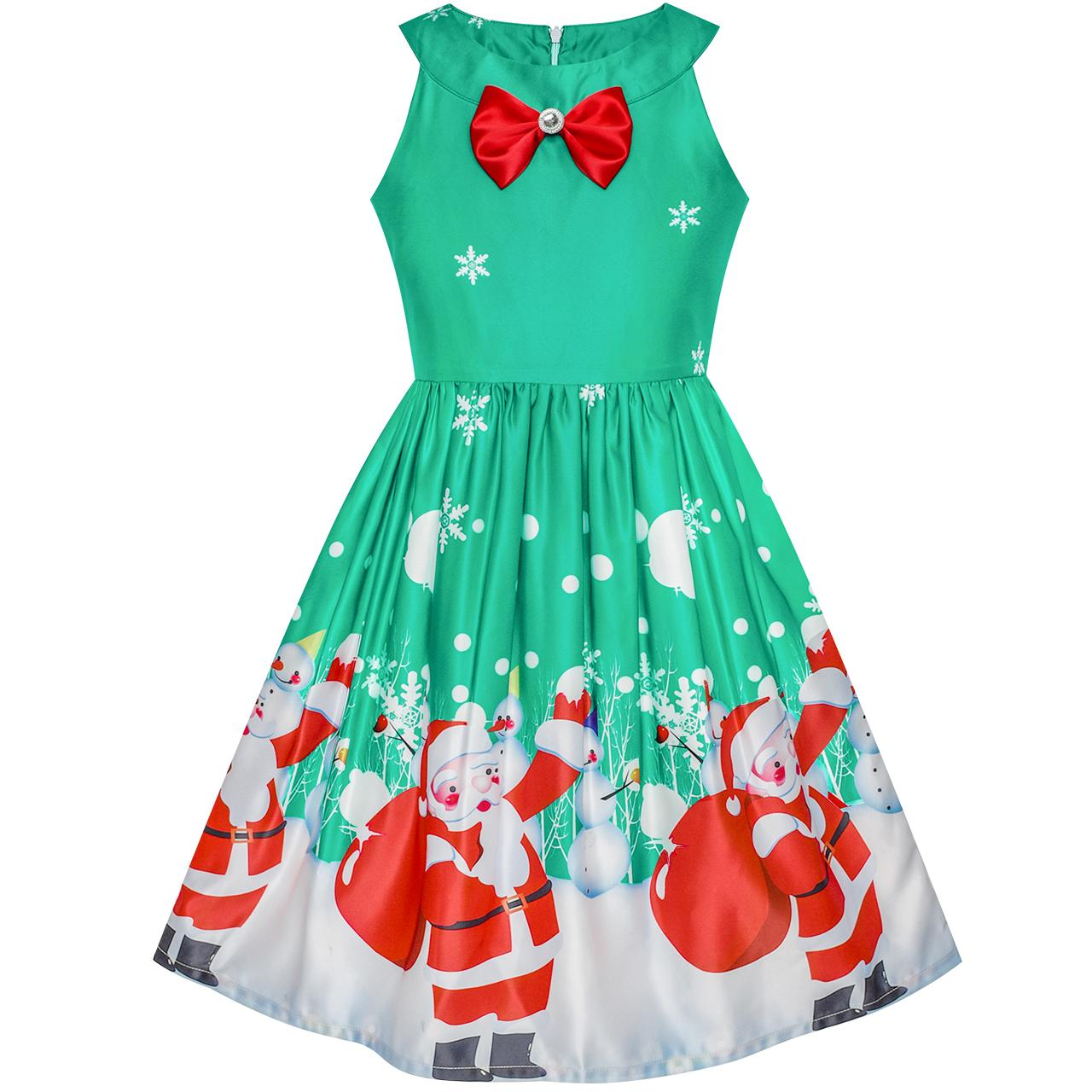 2018 Girls Christmas Eve Dresses Size 7-14 Choose from 6 Colours ...