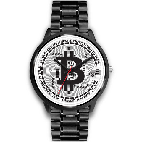 Cryptovator's Black & White Bitcoin Watch
